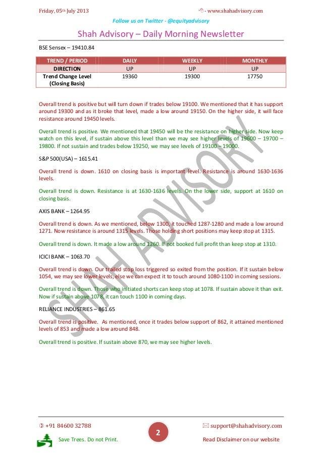 Daily Newsletter - 05-07-2013 Slide 2