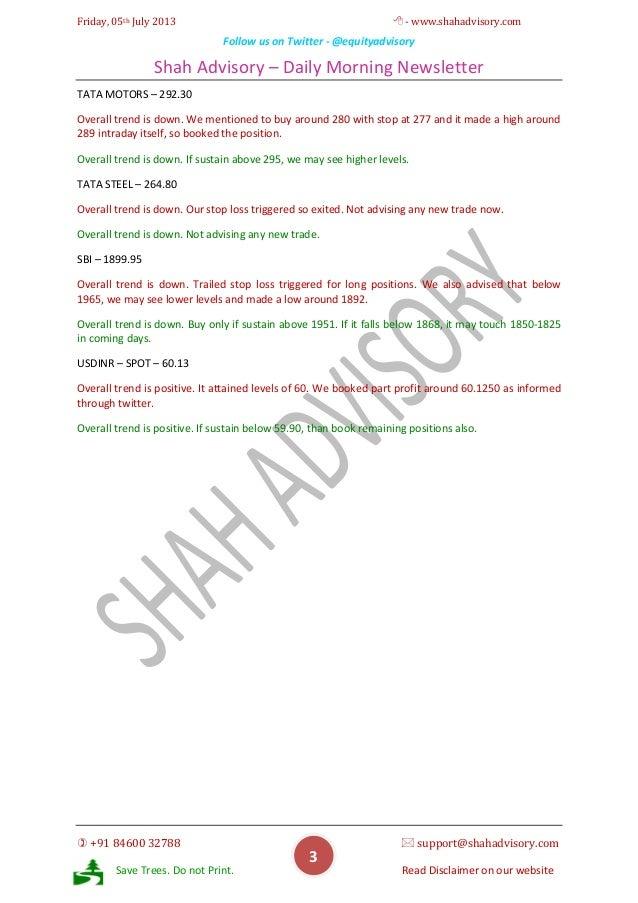 Daily Newsletter - 05-07-2013 Slide 3