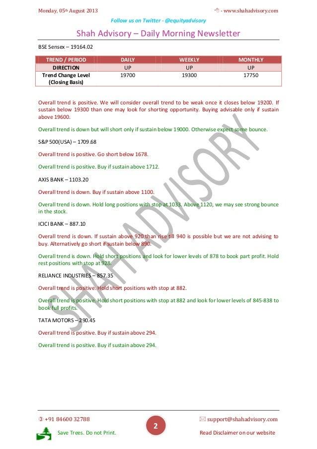Daily Newsletter - 05-08-2013 Slide 2