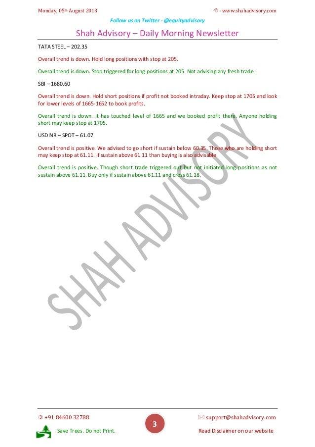 Daily Newsletter - 05-08-2013 Slide 3