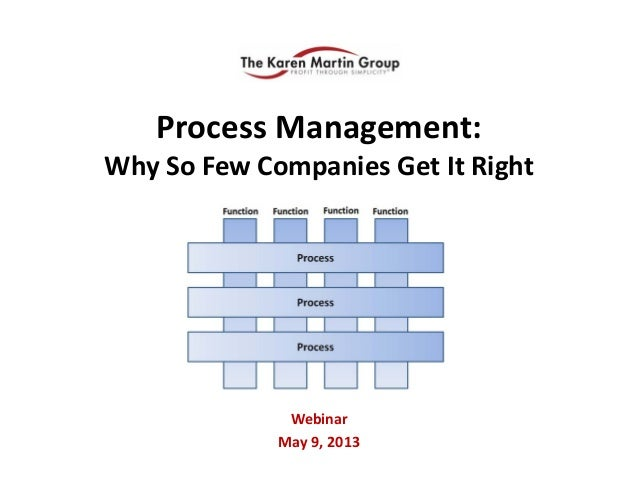 Process Management: Why So Few Companies Get It RightWebinarMay 9, 2013