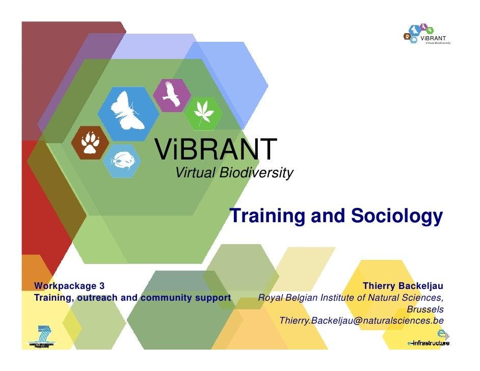 ViBRANT                                                                                  Virtual Biodiversity             ...