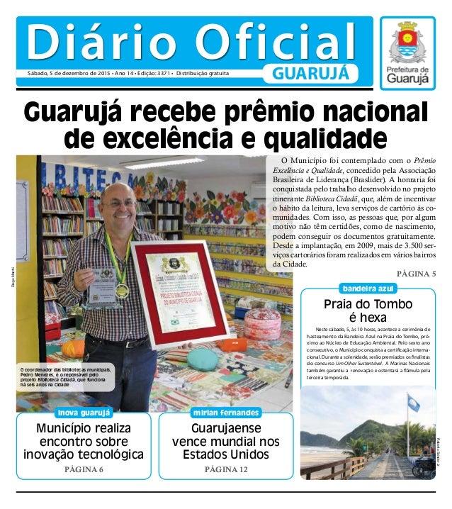 Município realiza encontro sobre inovação tecnológica PÁGINA 6 inova guarujá Praia do Tombo é hexa bandeira azul Guarujaen...