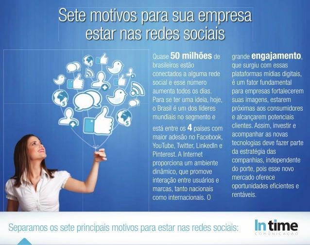Sete motivos para sua empresa estar nas Redes Sociais