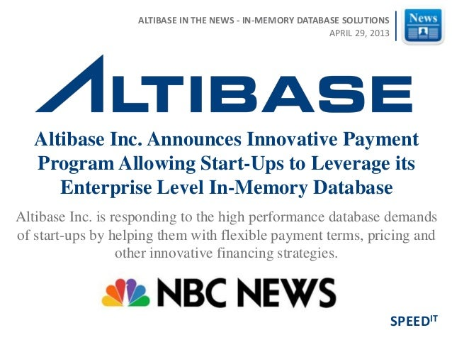 Altibase Inc. is responding to the high performance database demands of start-ups by helping them with flexible payment te...