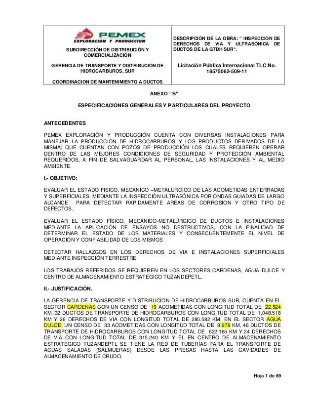 """DESCRIPCIÓN DE LA OBRA: """" INSPECCION DE DERECHOS DE VIA Y ULTRASÓNICA DE DUCTOS DE LA GTDH SUR"""".  SUBDIRECCIÓN DE DISTRIBU..."""