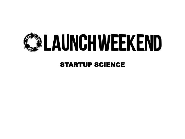 STARTUP SCIENCE