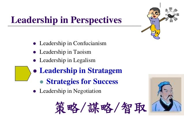 Leadership in Perspectives  Leadership in Confucianism  Leadership in Taoism  Leadership in Legalism  Leadership in St...
