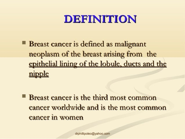 Definition of breast cancer
