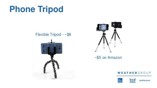 Phone Tripod Flexible Tripod - ~$8 ~$5 on Amazon
