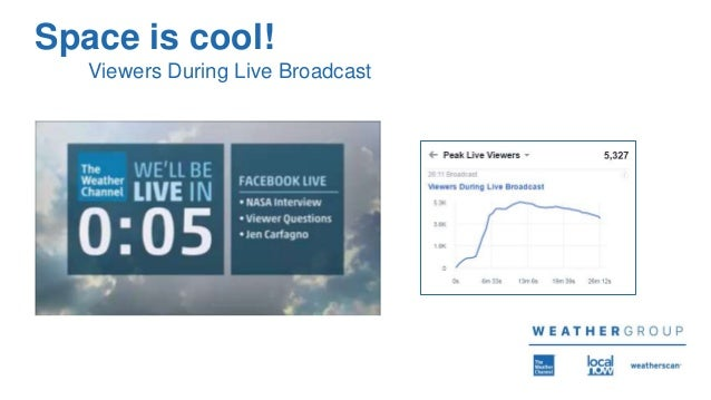 Space is cool! Viewers During Live Broadcast