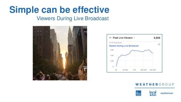 Simple can be effective Viewers During Live Broadcast