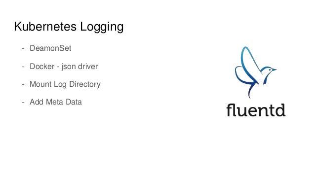 Kubernetes Logging - DeamonSet - Docker - json driver - Mount Log Directory - Add Meta Data