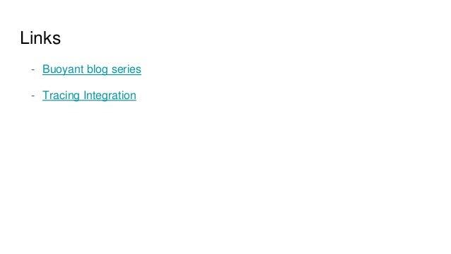 Links - Buoyant blog series - Tracing Integration