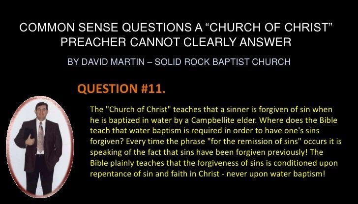 Common Sense Questions 05 17 09 Common Sense ...