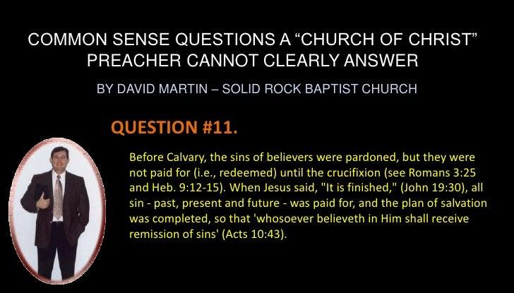 Common Sense Questions 05 17 09 Common...