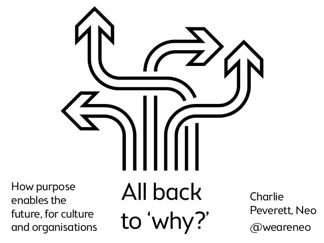 weareneo.com All back to 'why?' How purpose enables the future, for culture and organisations Charlie Peverett, Neo @weare...