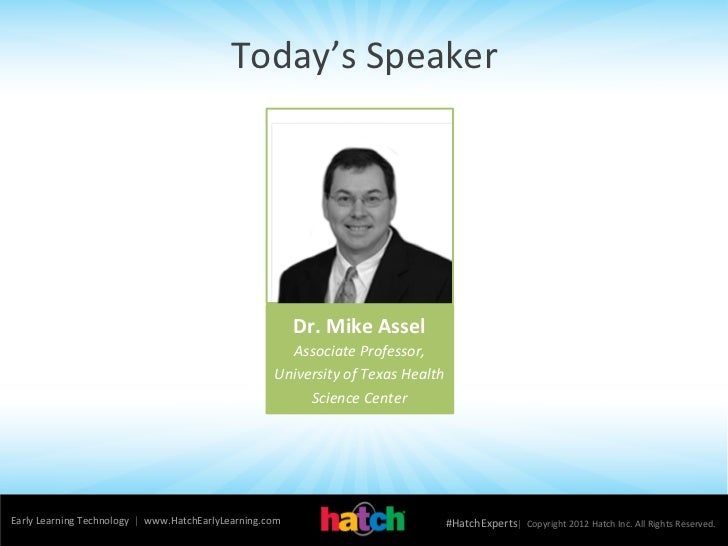 Webinar: Autism in Preschool (Dr  Mike Assel)