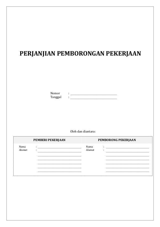 05 Draf Perjanjian Pemborongan Pekerjaan