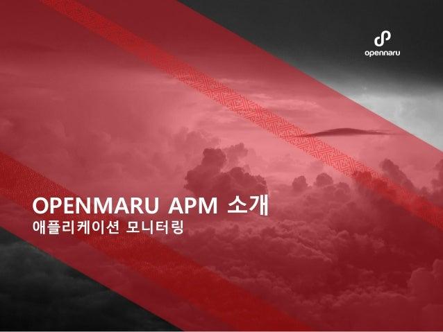 OPENMARU APM 소개 애플리케이션 모니터링