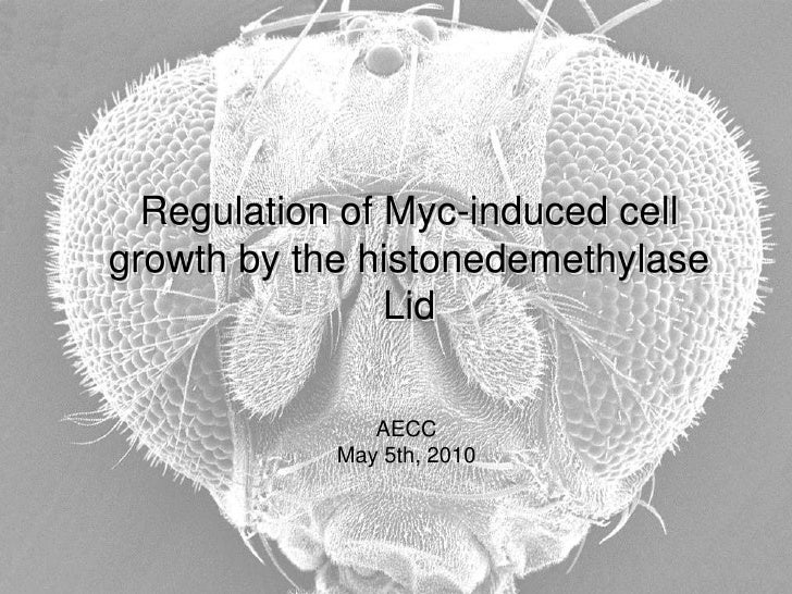 Regulation of Myc-induced cell growth by the histonedemethylase Lid<br />AECC<br />May 5th, 2010<br />