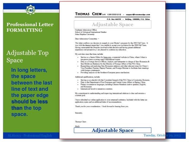 professional letter formatting