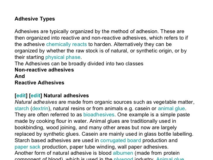 05 Adhesion And Adhesives Theory