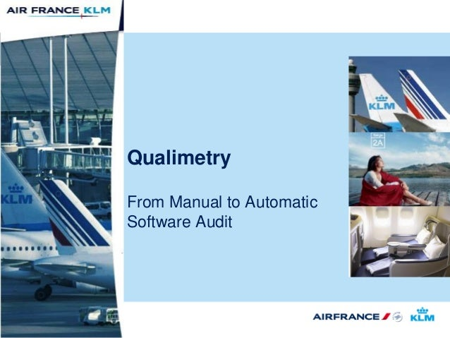 Qualimetry From Manual to Automatic Software Audit