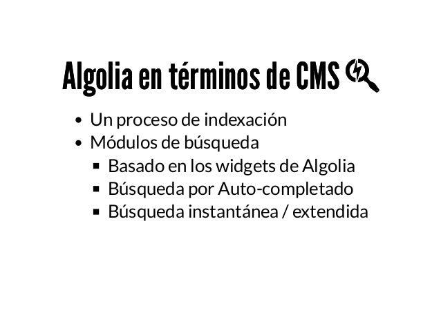 Búsquedas Instantáneas con Algolia en Joomla (WPO) - Anibal Sánchez