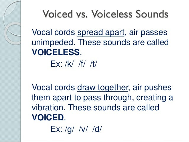 voiceless sounds in english