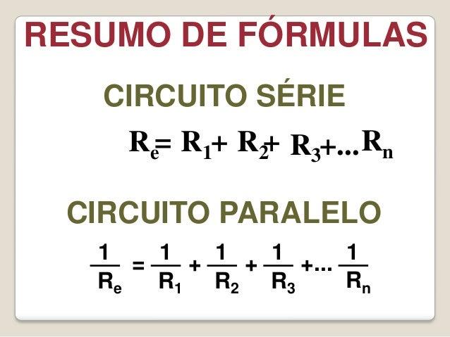Formulas de circuitos eletricos