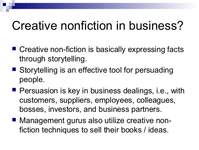 Tips on writing creative nonfiction