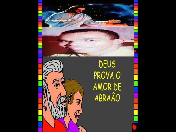 DEUS PROVA O AMOR DE ABRAÃO