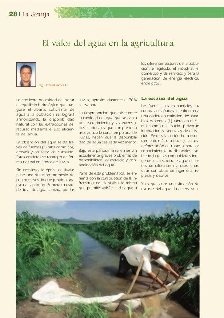 28 | La Granja                 El valor del agua en la agricultura                                                        ...