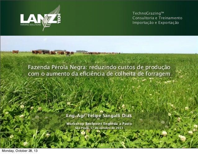 TechnoGrazing™ Consultoria e Treinamento Importação e Exportação  Fazenda Pérola Negra: reduzindo custos de produção com o...