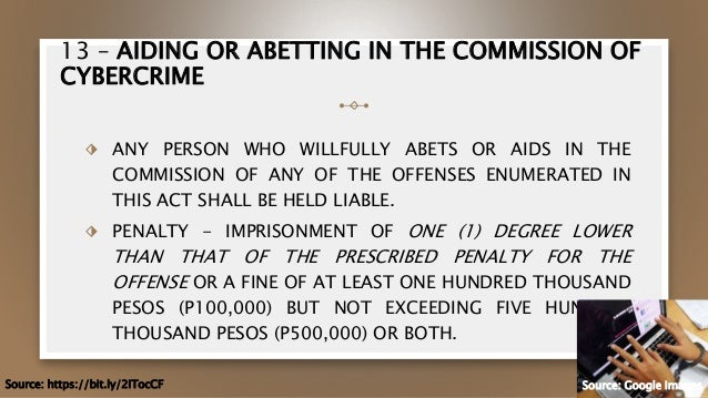 Aiding or abetting in the commission of cybercrime law bet price on one bite mouse and rat bait