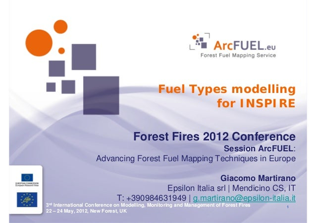 Fuel Types modelling                                                      for INSPIRE                                   Fo...