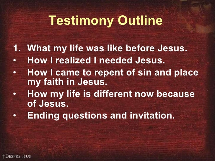 How to Write and Share Your Testimony