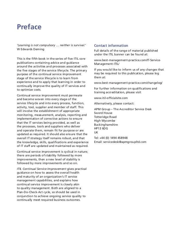 itil continual service improvement 2011 edition pdf