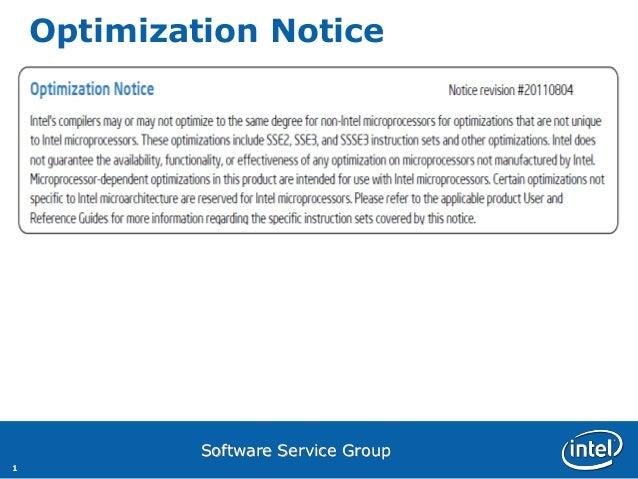 Optimization Notice             Software Service Group1