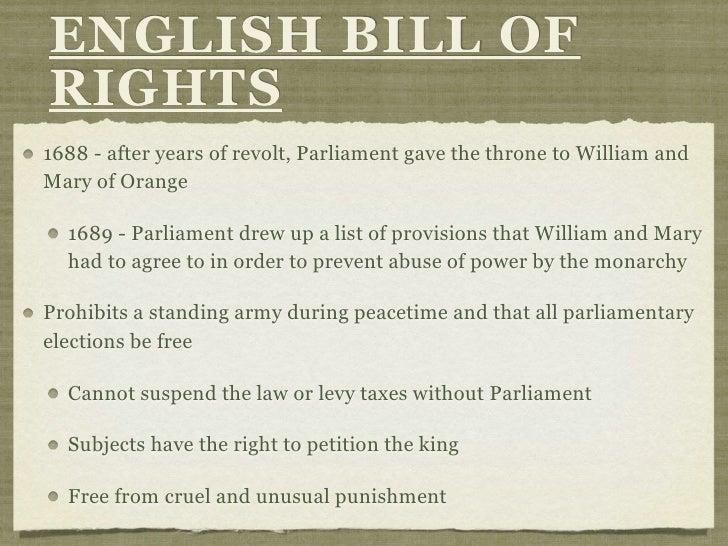 english bill of rights essay