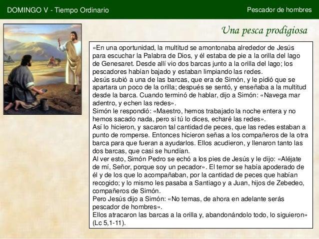 DOMINGO V - Tiempo Ordinario                                                Pescador de hombres                           ...