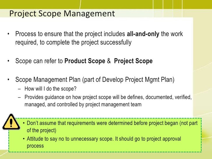 project scope management essay Calls for papers academic network published research research developing a complete project scope statement in 2 days paper presented at pmi global congress 2006 project scope management involves ensuring all of the required work and only the required work necessary to complete.