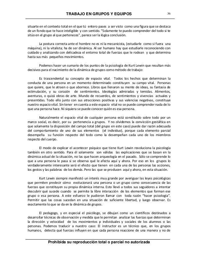 TRABAJO EN GRUPOS Y EQUIPOS Prohibida su reproducción total o parcial no autorizada 36 situarte en el contexto total en el...