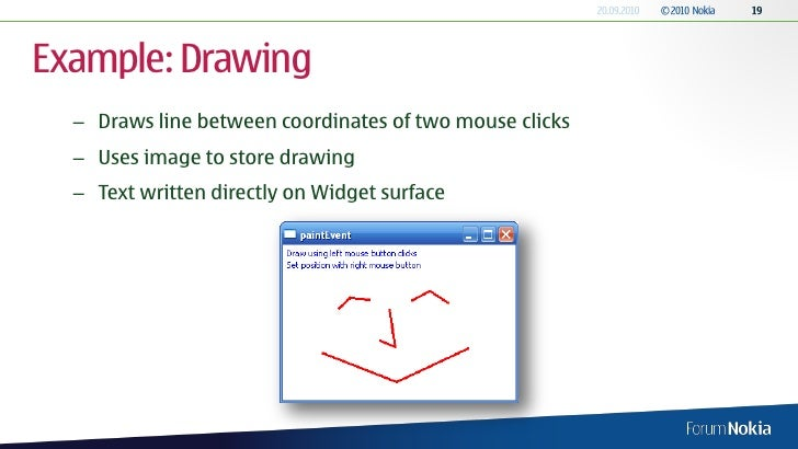Drawing Line Qt : Qt external interaction and graphics