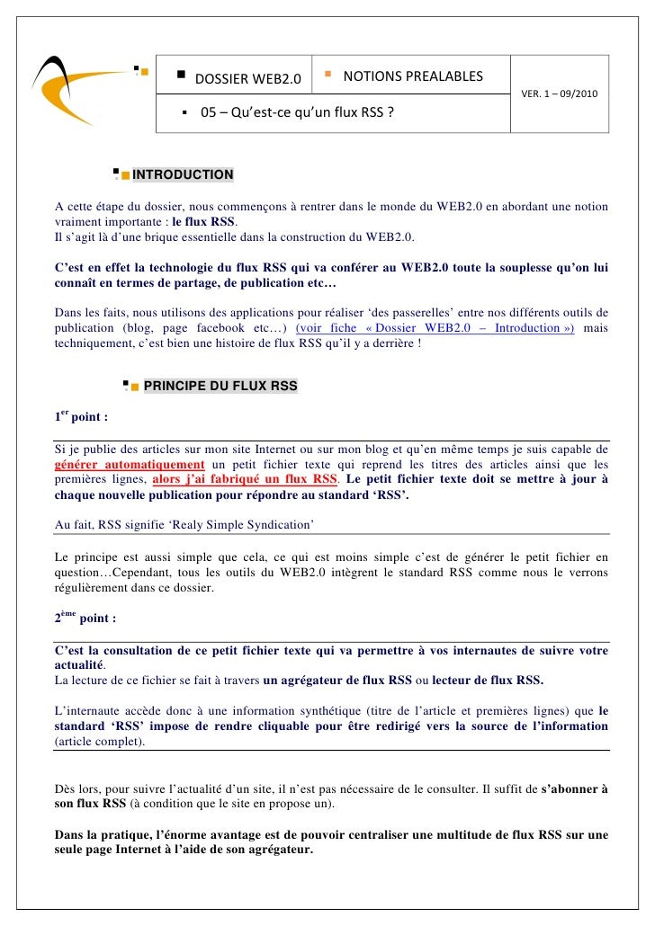 DOSSIER WEB2.0                NOTIONS PREALABLES                                                                          ...