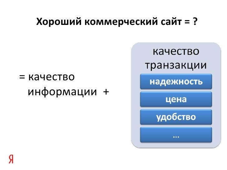 «Яндекс: новые принципы ранжирования коммерческих сайтов» Александр Садовский на Optimization 2011 Slide 3