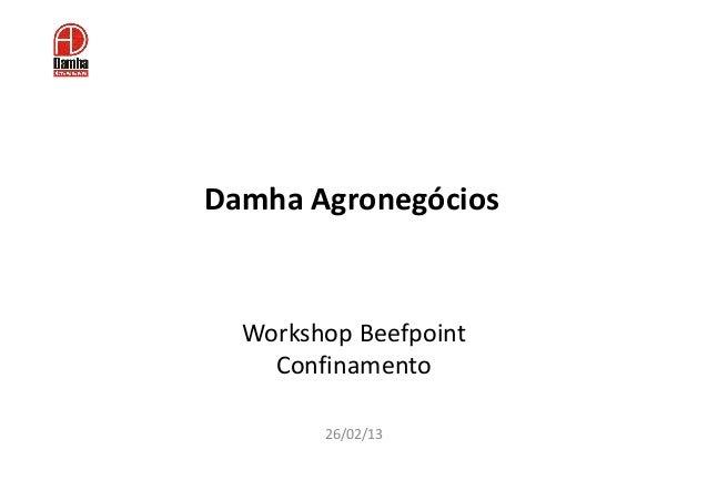 Damha Agronegócios  Workshop Beefpoint    Confinamento        26/02/13