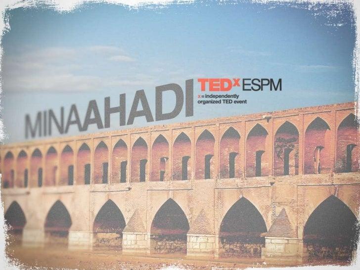 TEDxESPM - Mina Ahadi