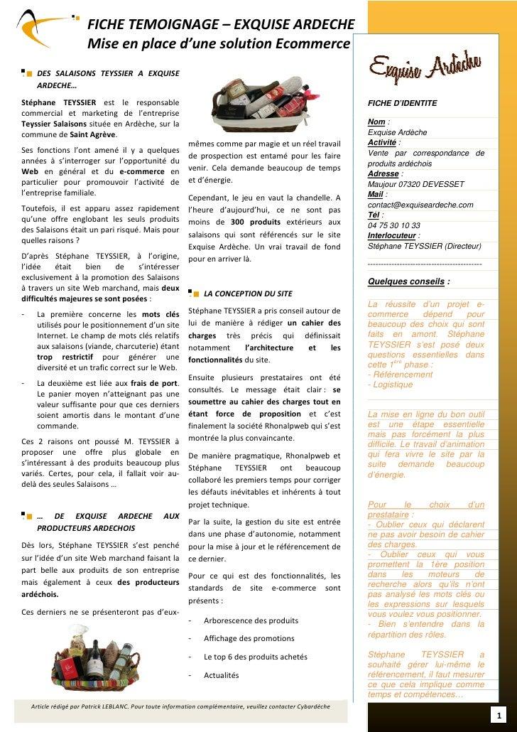 Mise en place dune solution e-Commerce